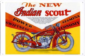 The New Indian Scout metal sign    (jk 3020)